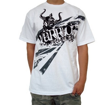 Warrior camiseta blanco con cool design - SHATTER TEE WHITE