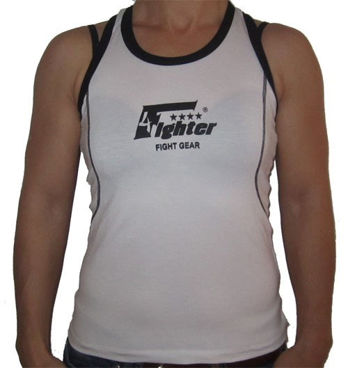 4Fighter Girltop blanco con Logo 4Fighter GT-4