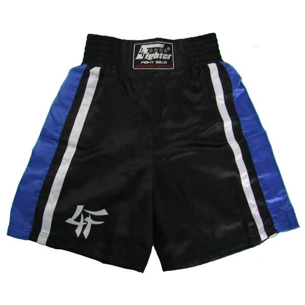 4Fighter Boxingshorts black blue 4FBS-2