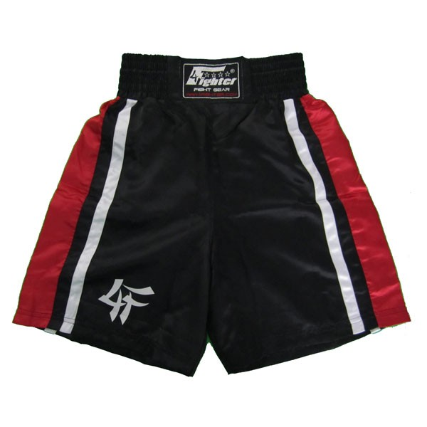 4Fighter Boxingshorts black red 4FBS-3