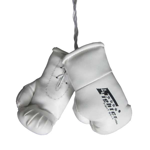 4Fighter Mini Guantes de boxeo blanco BIG para el espejo retrovisor 4FMINIBG white