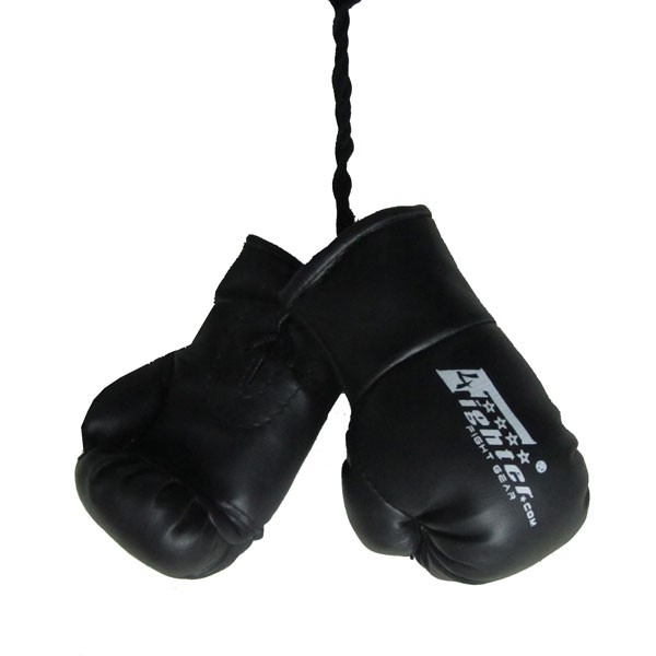 4Fighter Mini Guantes de boxeo BIG negro color, para el espejo retrovisor 4FMINIBG black
