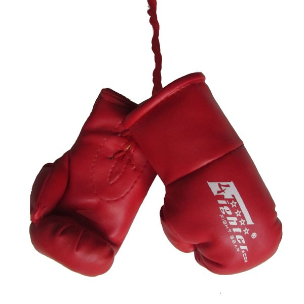 4Fighter Mini Guantes de boxeo BIG en rojo color, para el espejo retrovisor4FMINIBG red